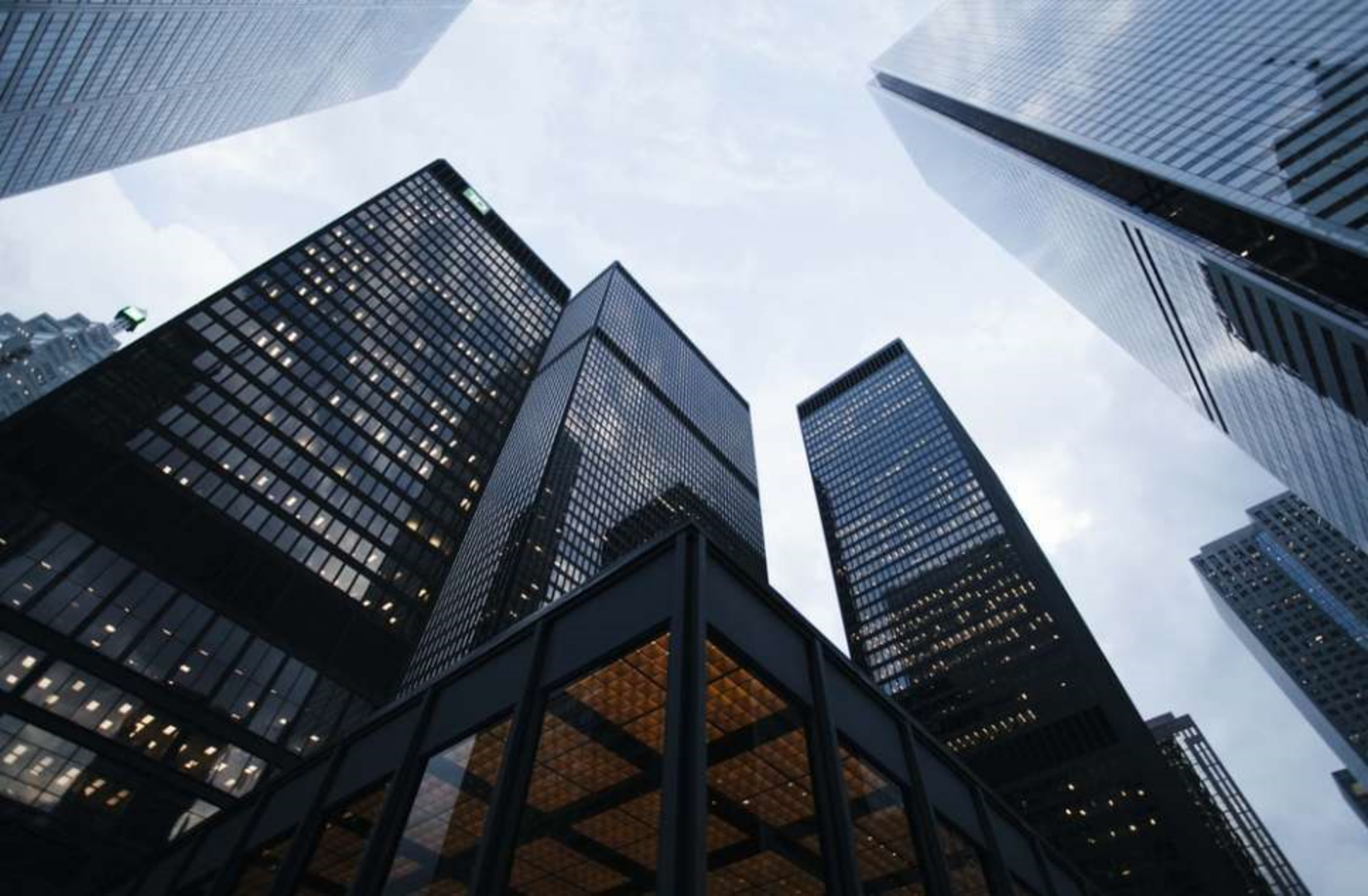 Introductory image showing tall buildings